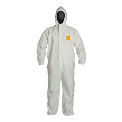 Coveralls- Storm Flap, Respirator-Fit Hood, Elastic Face, Wristis and Ankles