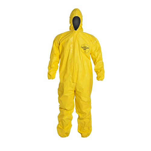 Dupont™-Tychem®-QC-Coveralls---Attached-Hood,-Elastic-Face,-Wrists-and-Ankles