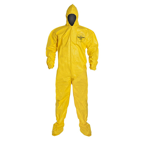 Dupont™-Tychem®-QC-Coveralls---Attached-Hood-and-Socks,-Elastic-Wrists-and-Face
