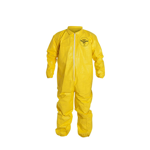 Dupont™-Tychem®-QC-Coveralls---Collar,-Front-Storm-Flap,-Elastic-Wrists-and-Ankles,-Continued