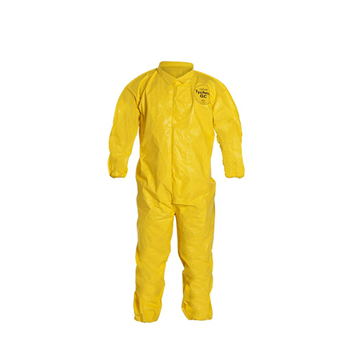 Dupont™-Tychem®-QC-Coveralls---Collar,-Front-Storm-Flap,-Elastic-Wrists-and-Ankles