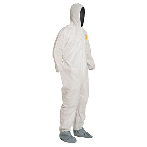 Dupont Proshield Basic Coveralls - Attached Hood, Elastic Wrists and Ankles
