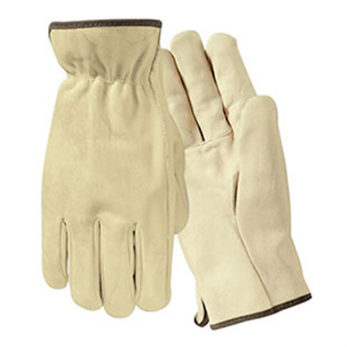 Economy Grade Grain Cowhide Leather Drivers Gloves